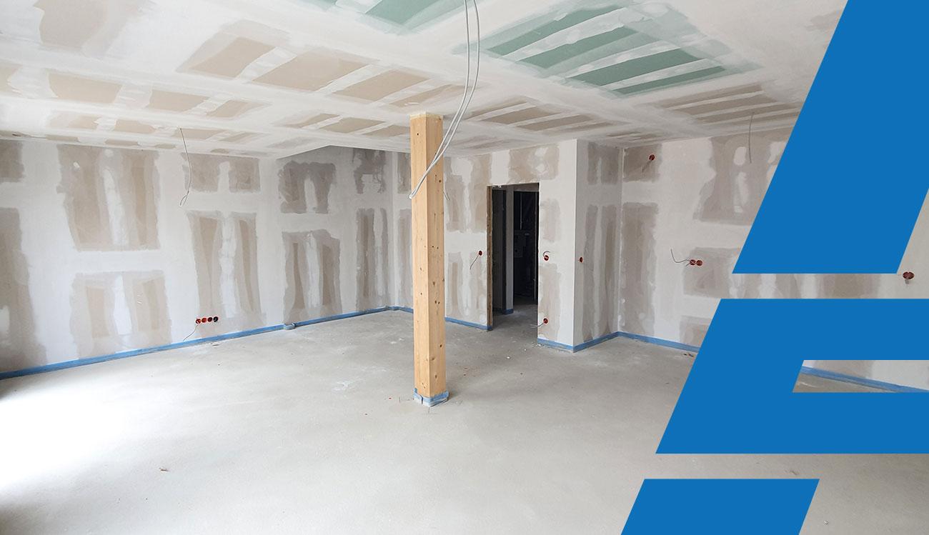 Mit Trockenbauwänden neue Räume gestalten